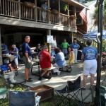 Neighbors on the Isle of Palms gather for their annual pig pickin'.