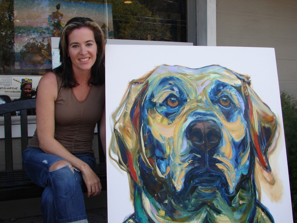 Kathy Sullivan with her Commission of the Labrador