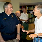 IOP Police Chief Thomas Buckhannon meets with local residents