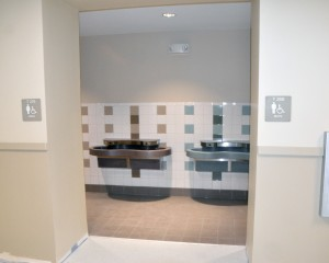The specially designed bathrooms. (Photo by Barb Bergwerf)