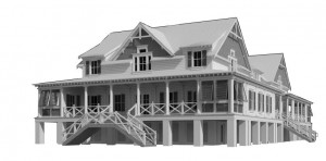 The design of the new Sullivan's Island Town Hall is intended to be in keeping with the character of the island.