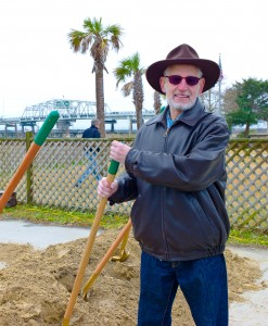 Mike Perkis was a very hands on Mayor, pictured here helping break ground on the new Bike Path.