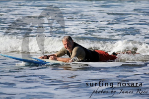 Mayor Perkis recently took up surfing.