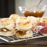 Blue Cheese Biscuits with Fig Chutney