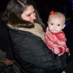 A lovely young lady enjoys the Sullivan's Island Christmas tree lighting.