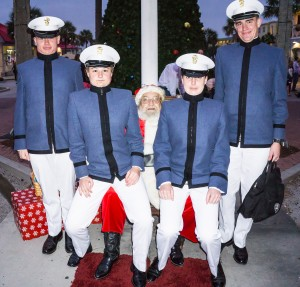 Santa and the cadets.