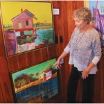 Carol McGill at a recent exhibit of her work at Morgan Creek Grill.