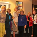 Mount Pleasant Artists Guild Group Show Reception on Dec. 4. Artists from left to right:  Ginny Paternite, Nancy Rinn, Judith Chamberlin, Becky Taylor, Pat Exum, Faye Sullivan, Gazie Nagel, Susan Altman.