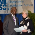 Mayor Terence Roberts, Municipal Association president, and Councilmember Sandy Ferencz