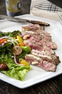 A succulent steak, perfect for spring grilling.
