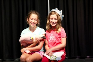 Students rehearse during the Crabpot Players summer camp.