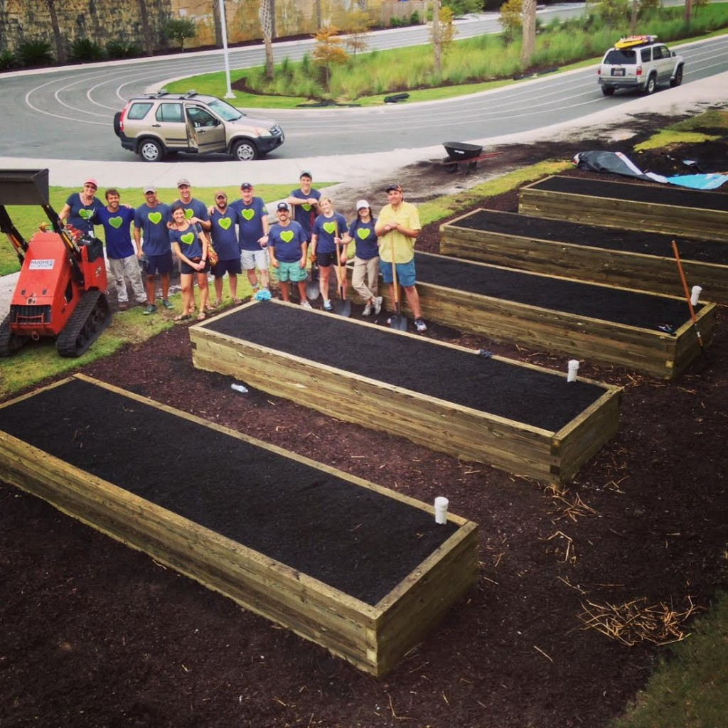 The new Urban Garden at Sullivan's Island Elementary.