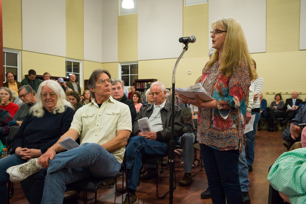 A concerned citizen talks to the panel about the coyote problem.