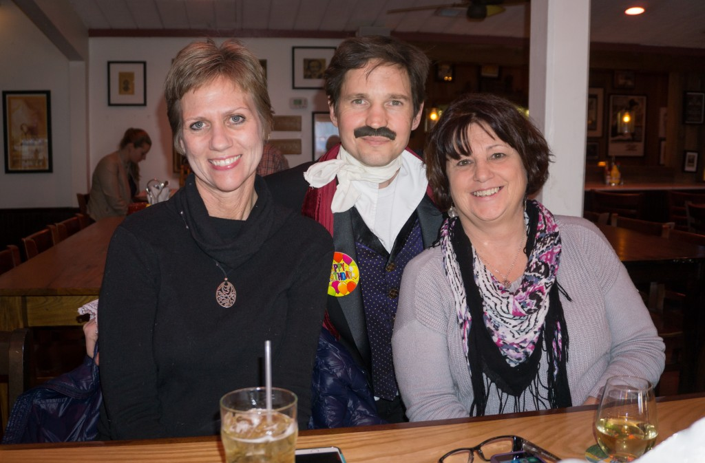 Lisa Vogt and Beth Behegan celebrate Edgar Allan Poe's birthday with the guest of honor himself.