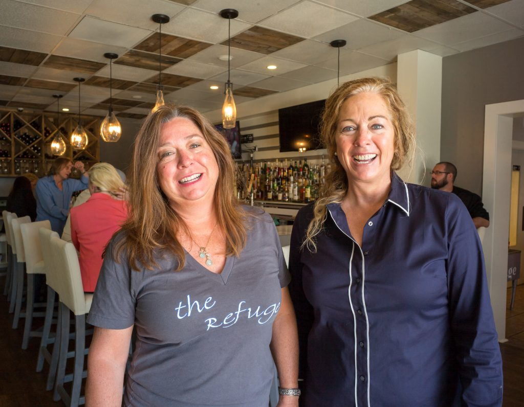 Sisters Patty and Jocelyn Lamond at the Refuge bar