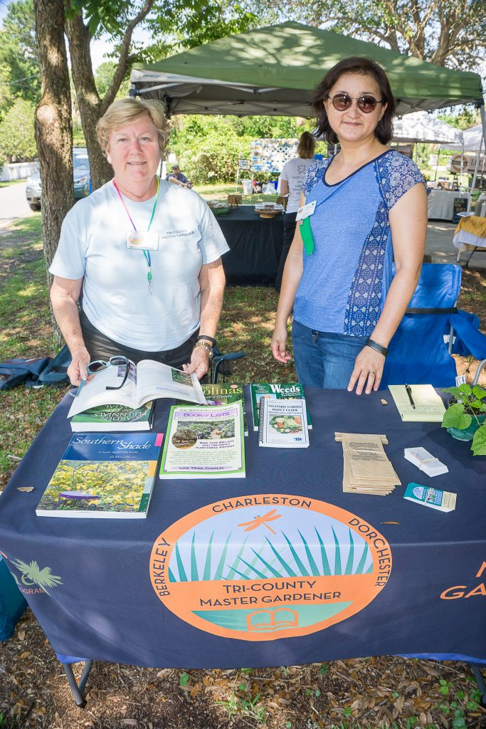 Kerry Goldmeyer and Kelley Hwang from Clemson's Home and Garden Information Center
