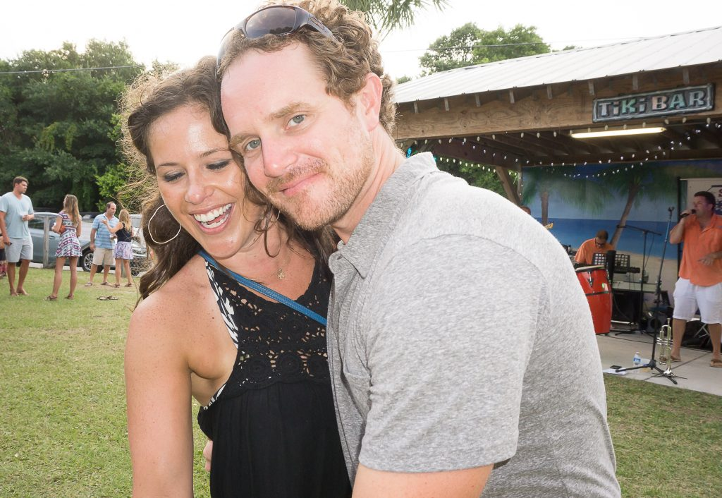 Kathleen Budds and Tyler Blind dance the night away at the Tiki Bar.