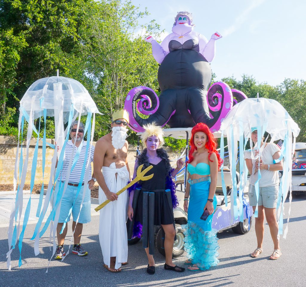 "The Player family with ""Neptune"" in the Sullivan's Island parade."