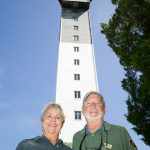 Lighthouse aficionados Tammy and Mike Wright volunteer at National Lighthouse Day.