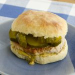Pork burgers and pickles
