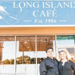 Christiana Harsch and Ravi Scher outside their Isle of Palms restaurant. (Courtesy Photo)