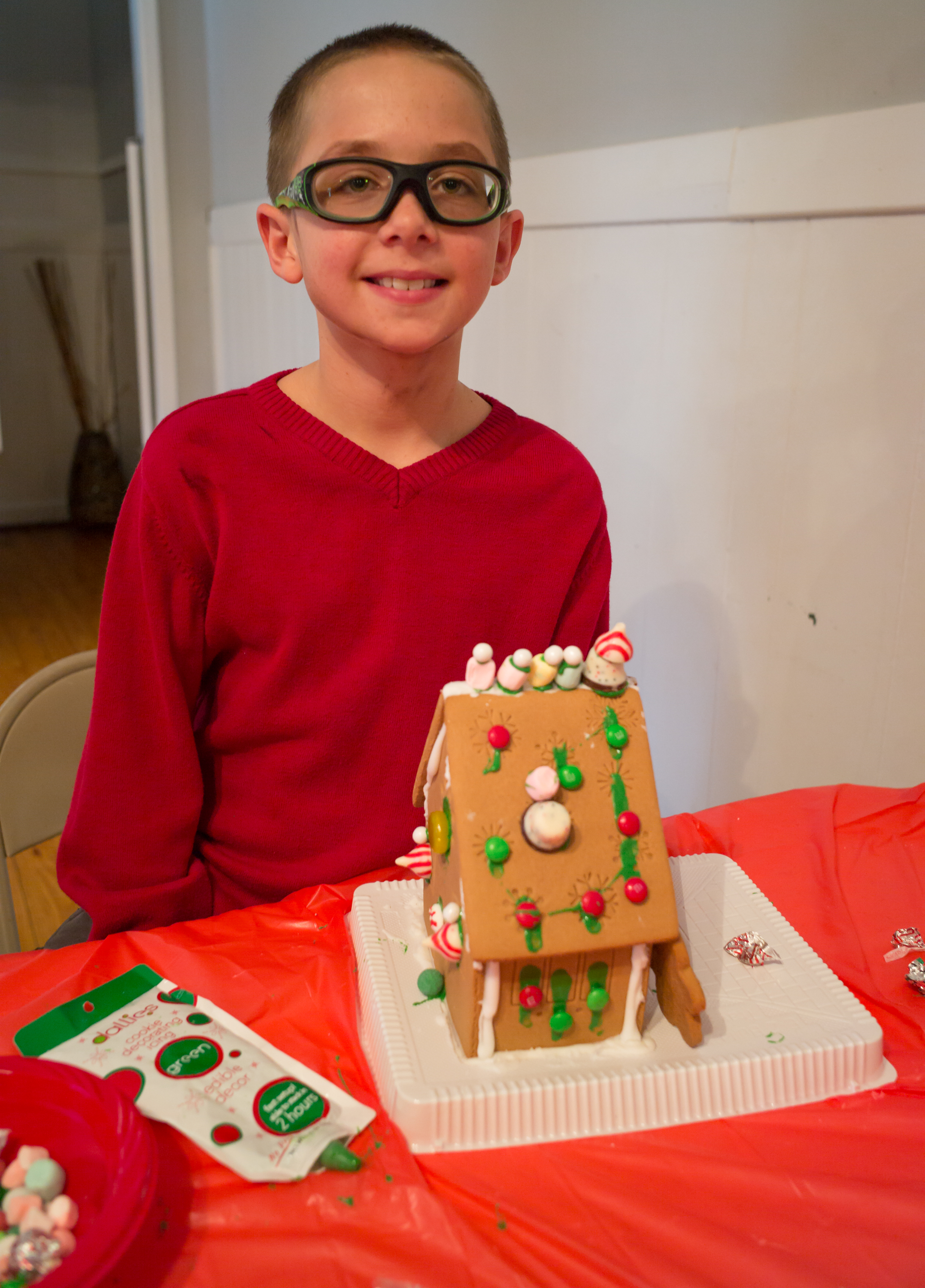 Gavin Williams poses with his architectural masterpiece.