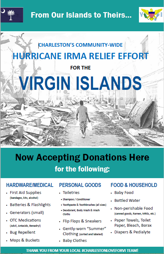 "LowcountryLOVEforVI"" To Deliver Aid To Storm Battered Virgin Islands"